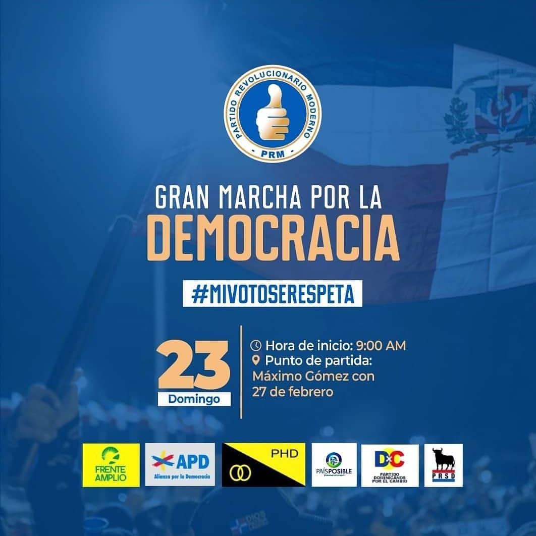 Por respeto al espacio de protesta de los jóvenes, Marcha por la Democracia terminará en el Altar de la Patria
