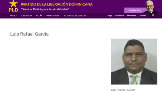 Luís Rafael García. Suplente de la JCE.