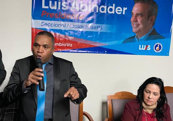 Coordinador de Abinader en Boston llama diáspora a respaldar candidatos del cambio