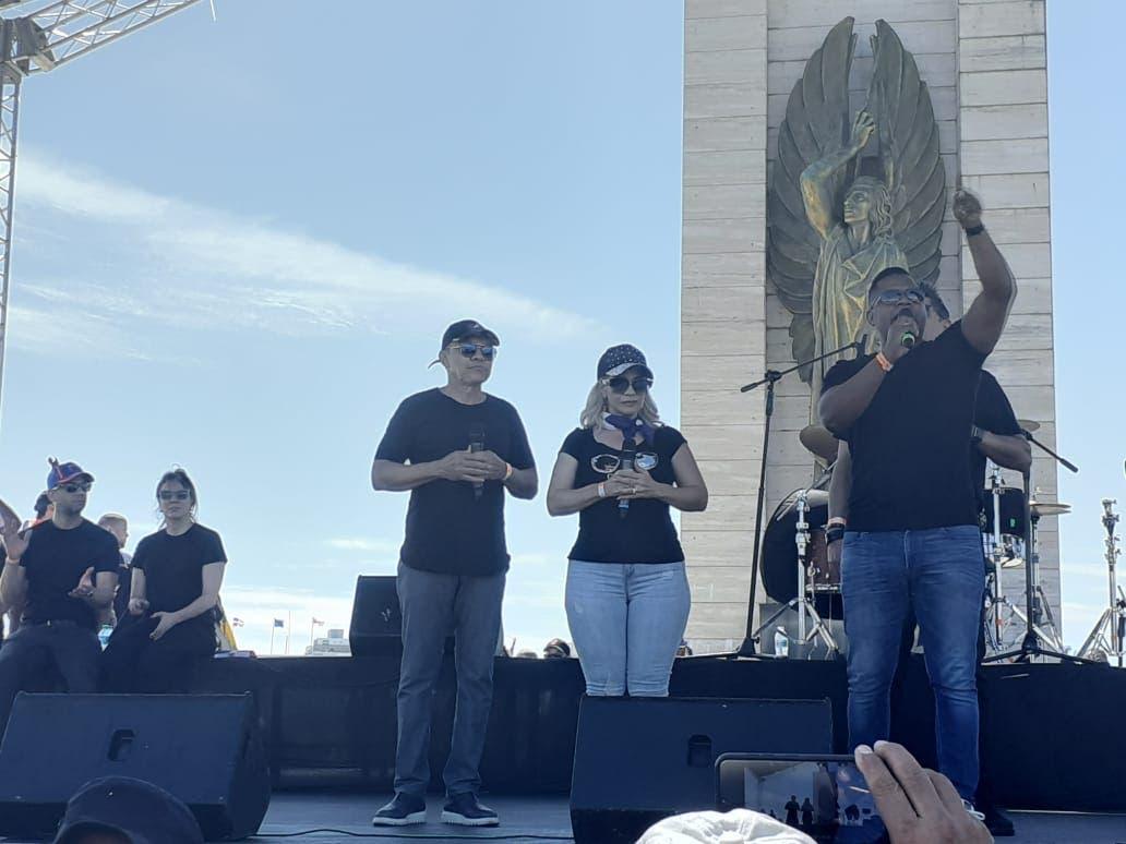#Trabucazo2020: Artistas dominicanos se expresan durante manifestación en Plaza de la Bandera