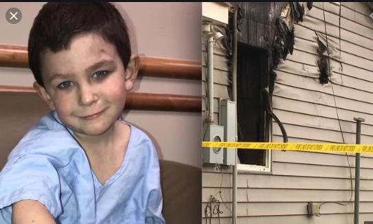 ¡Héroe a la vista! Con solo cinco años sacó a su hermanita y al perro de la casa que se incendiaba