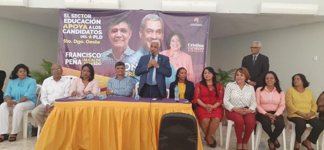 Educadores del PLD apoyan candidatos municipales de Santo Domingo Oeste