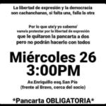 Convocatoria a protesta cerca de la casa del presidente Danilo Medina.