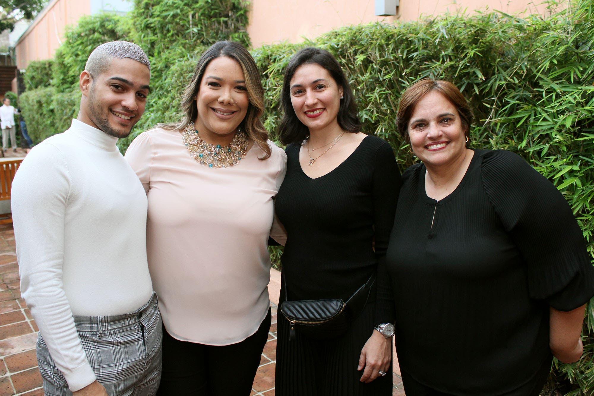Engell Acevedo, Ileana Then, Riguel Helena y Madeline Grullón.