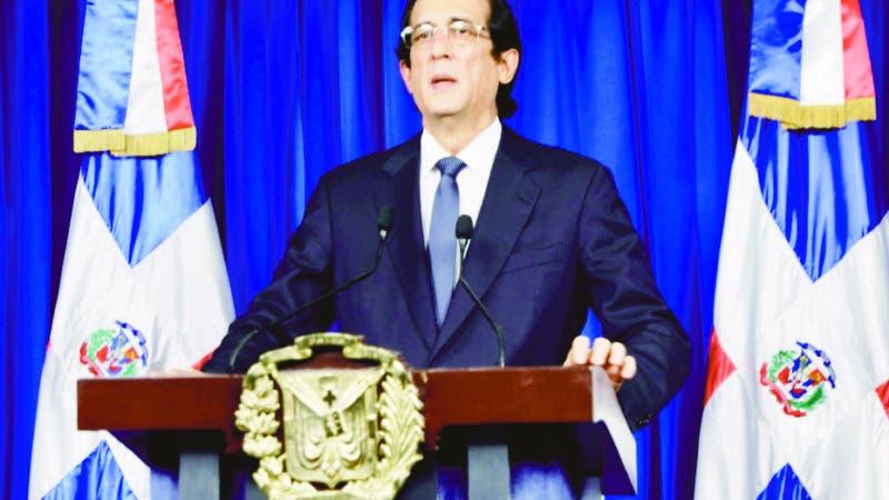 Ministro de la presidencia Adolfo Montalvo . Fuente externa/24/03/2020.