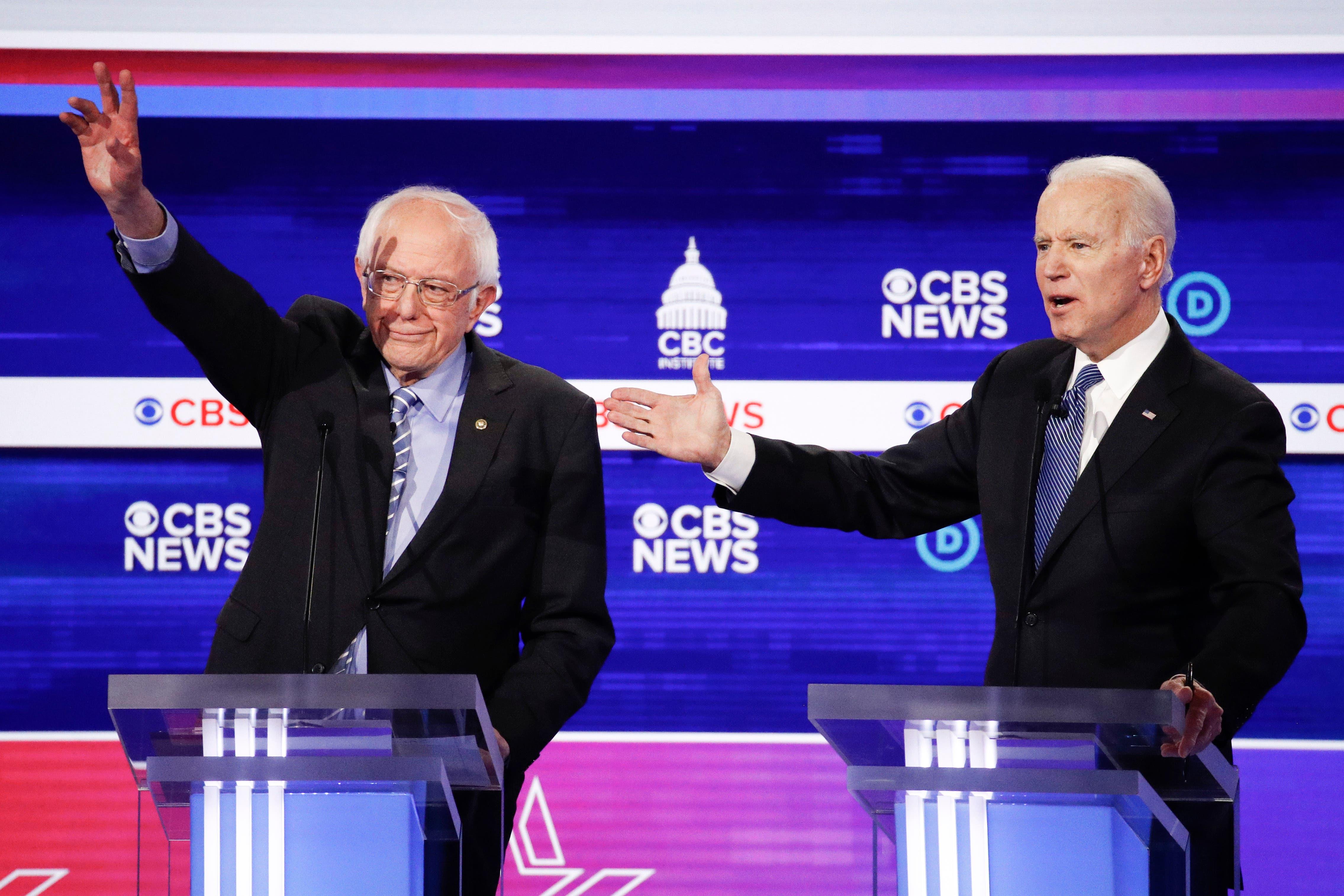 Biden y Sanders sostendrán un muy esperado debate directo