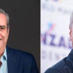Candidatos presidenciales del PLD y PRM, Gonzalo Castillo y Luis Abinader, respectivamente.