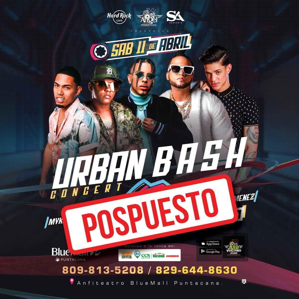 Posponen concierto «Urban Bash»