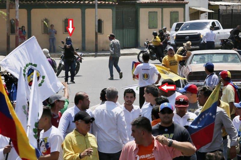 """Juan Guaidó: """"La cobarde dictadura intentó asesinarme. Tiene más de nueve impactos de bala nuestro vehículo"""""""