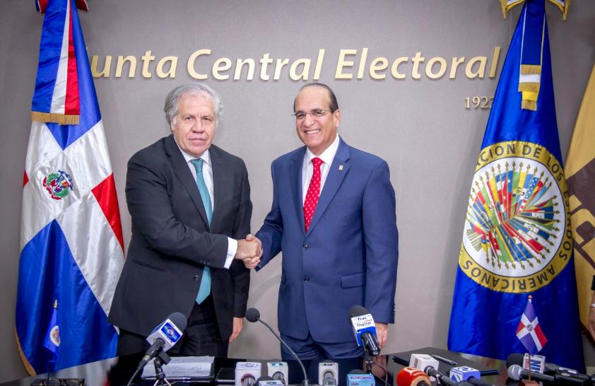 OEA y JCE firman acuerdo para realización de auditoría al voto automatizado