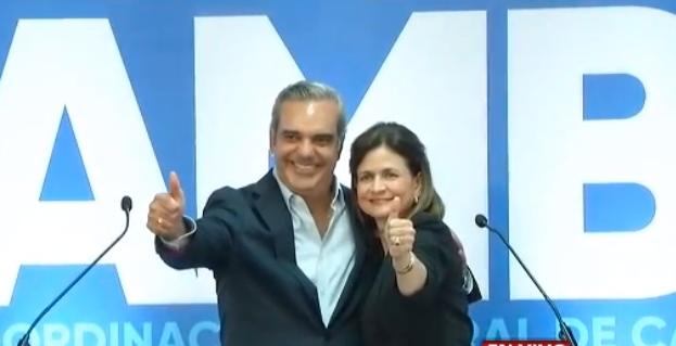 Luis Abinader confirma escogencia de Raquel Peña como su candidata vicepresidencial
