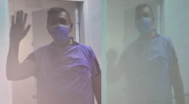 Paciente afectado con coronavirus en RD luce estable y saludando