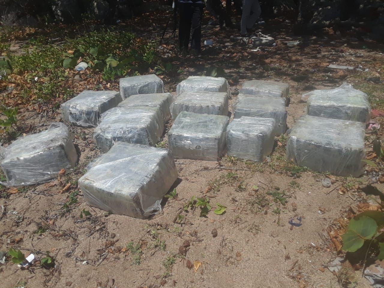 DNCD y Armada encuentran 333 paquetes de posible cocaína