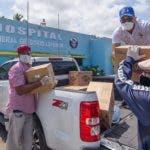 Entrega de productos en Puerto Plata, para coronavirus