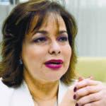 Invitada al coloquios del periódico El Día, la señora Yokasta Guzmán Santos, directora de la Dirección General  de Compras y Contrataciones Públicas, (DGCP)./foto El Día José de León