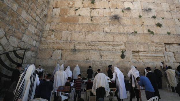 El Muro de los Lamentos es un sitio clave para los judíos durante el Pésaj.