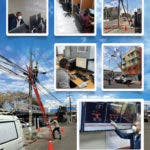 EDE Este trabaja en la reparación de averías provocadas por lluvias