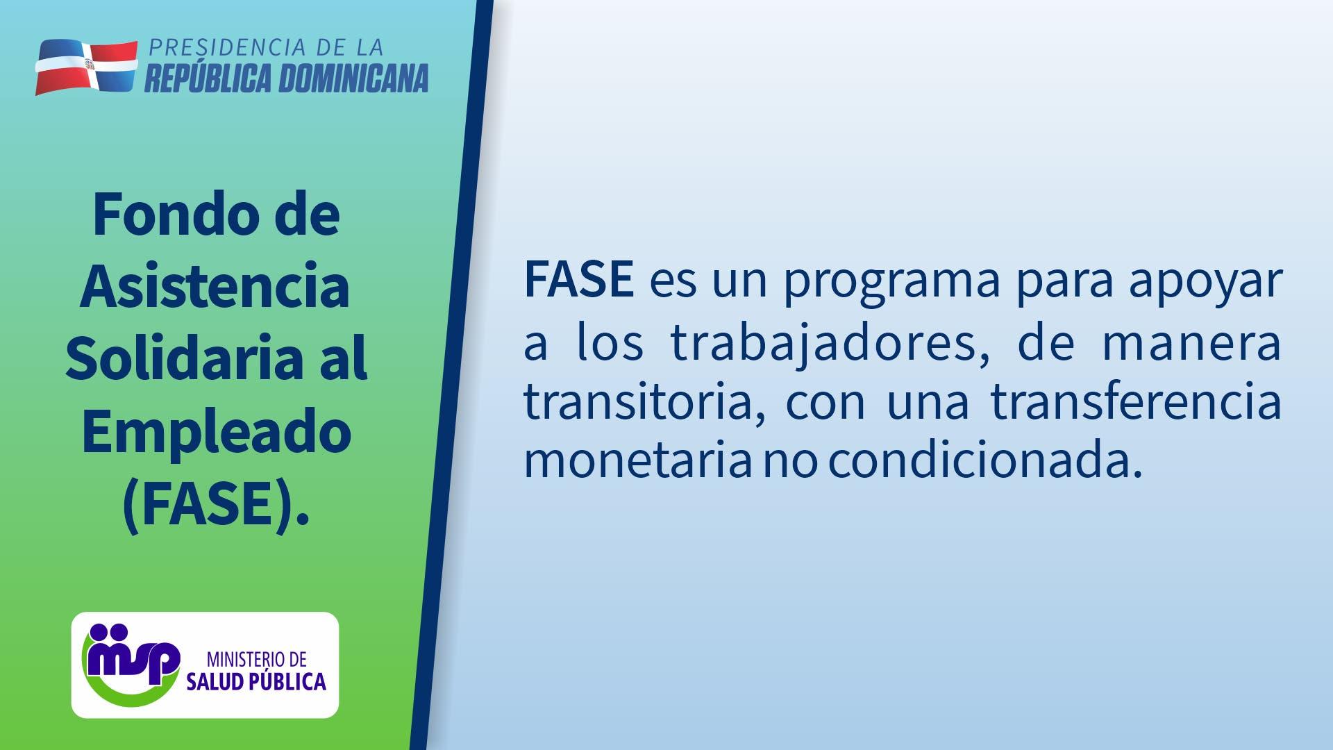 ¡Atención beneficiarios de programa FASE! Esta información es para ti