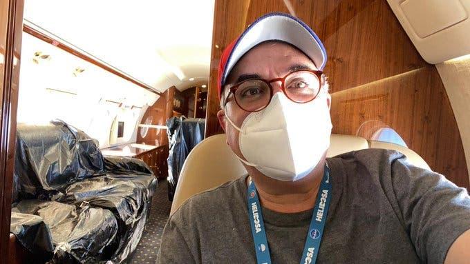 Roberto Cavada de camino a China