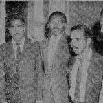 Ernesto López Molina, Tico; Máximo López Molina; Mario Jerez Cruz; Andrés Ramos Peguero; y Francisco Elizardo Ramos Peguero. Foto: Juan Gautreau,El Caribe 5 junio 1960.