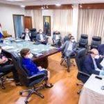 Reunion del pleno de la JCE y algunos tecnicos, encabezo su presidente Julio Cesar Castaños Guzman.  Hoy/Fuente Externa 27/5/20
