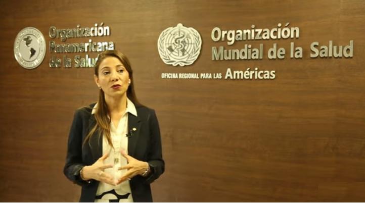 Alma Morales Salinas, representante de la OPS-OMS en el país.