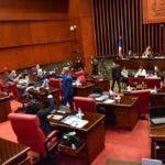 Senadores durante sesión del miércoles 13 de mayo. Fuente externa.