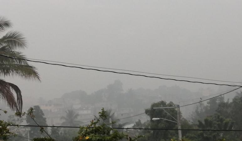 Imágen colgada en las redes sobre cómo afectó el humo en la provincia.