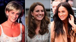 Lady Di, Kate Middleton y Meghan Markle .