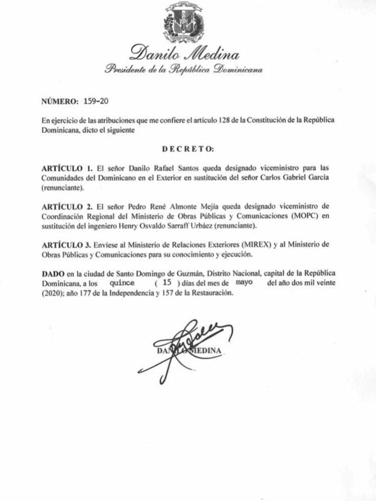 Decreto 159-20.