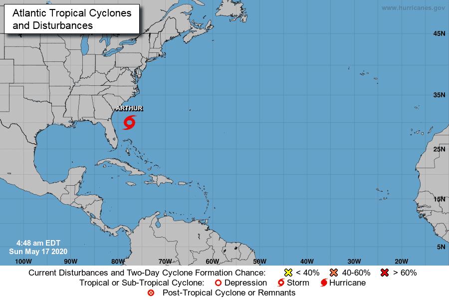 Se forma Arthur, primera tormenta tropical de temporada en Atlántico; aquí te decimos si presenta peligro para RD