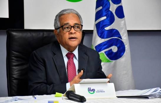 Ministro de Salud Pública Sánchez Cárdenas durante la rueda de prensa del 4 de mayo del presente año donde habló del humo de Duquesa y el coronavirus.