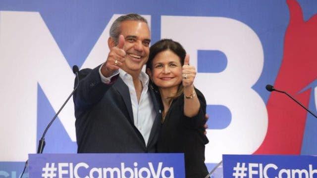 JCE declara a Luis Abinader y Raquel Peña oficialmente ganadores