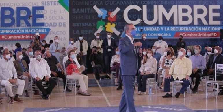Abinader propone convertir cumbre por la unidad en espacio de consulta