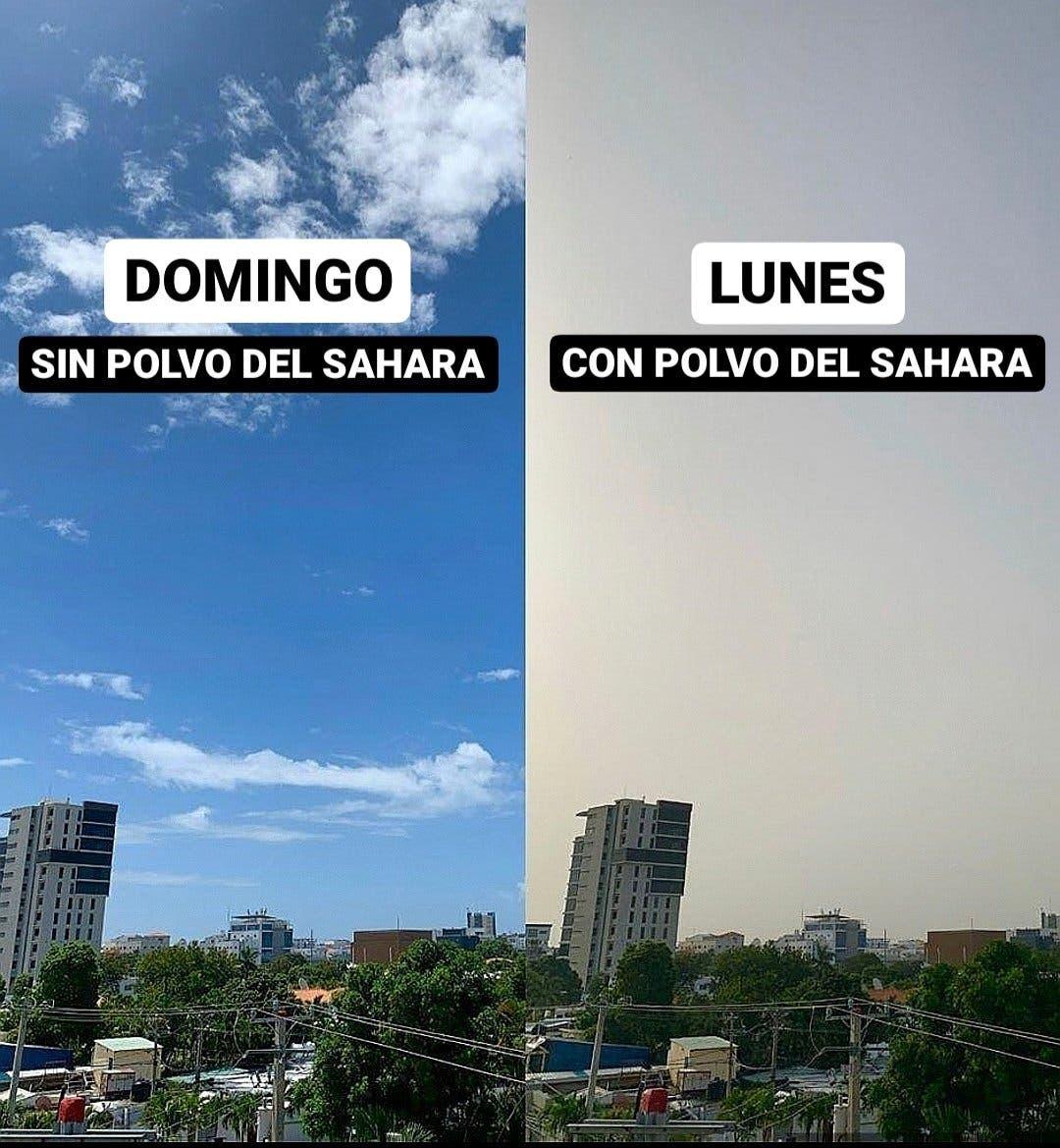 FOTOS: Densa nube de polvo del Sahara incide en República Dominicana