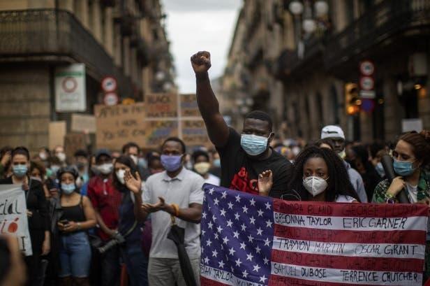 George Floyd: Miles protestan en Europa en contra del racismo