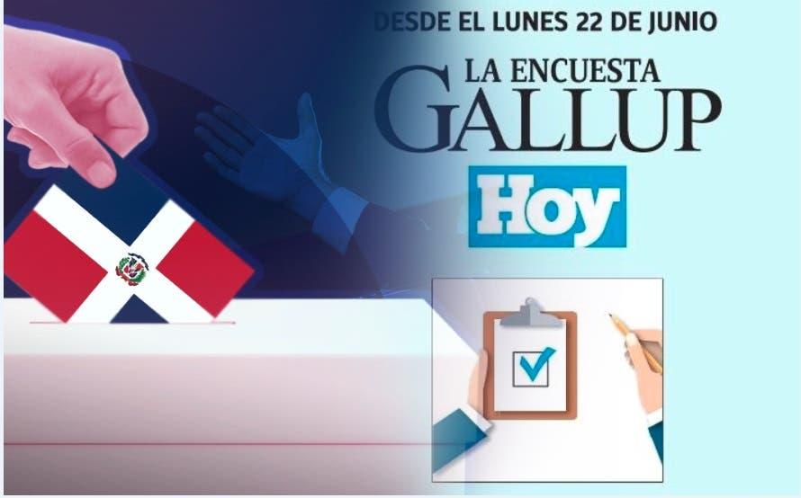 Encuesta Gallup-Hoy saldrá el lunes; revelará posicionamiento electoral