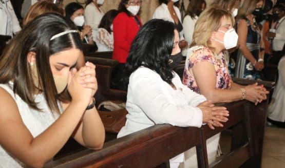 Mujeres del PRM participan en misa de Acción de Gracias por triunfo del PRM