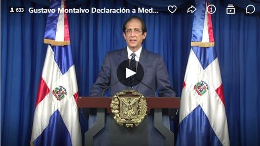 Aquí discurso completo de Gustavo Montalvo por COVID-19
