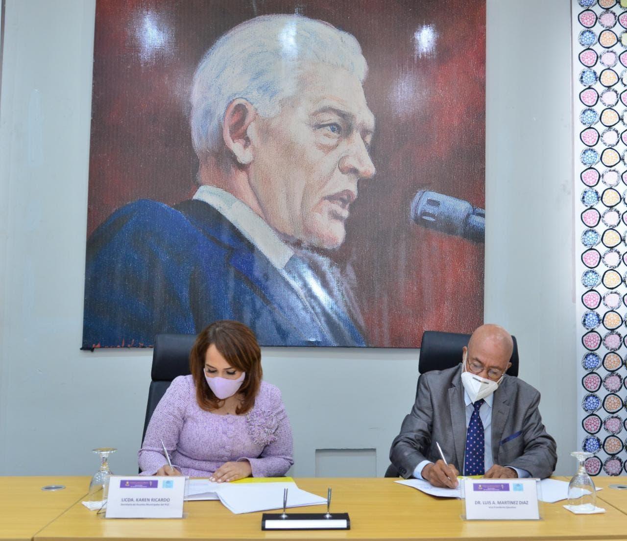 Secretaría de Asuntos Municipales PLD firma convenio con Fundación Griffin