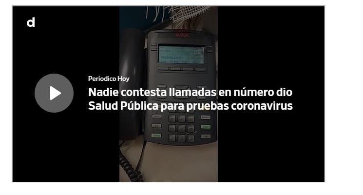 Nadie contesta teléfono que dio Salud Pública para solicitar pruebas COVID-19