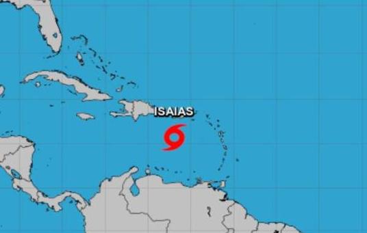 Se forma oficialmente la tormenta Isaías