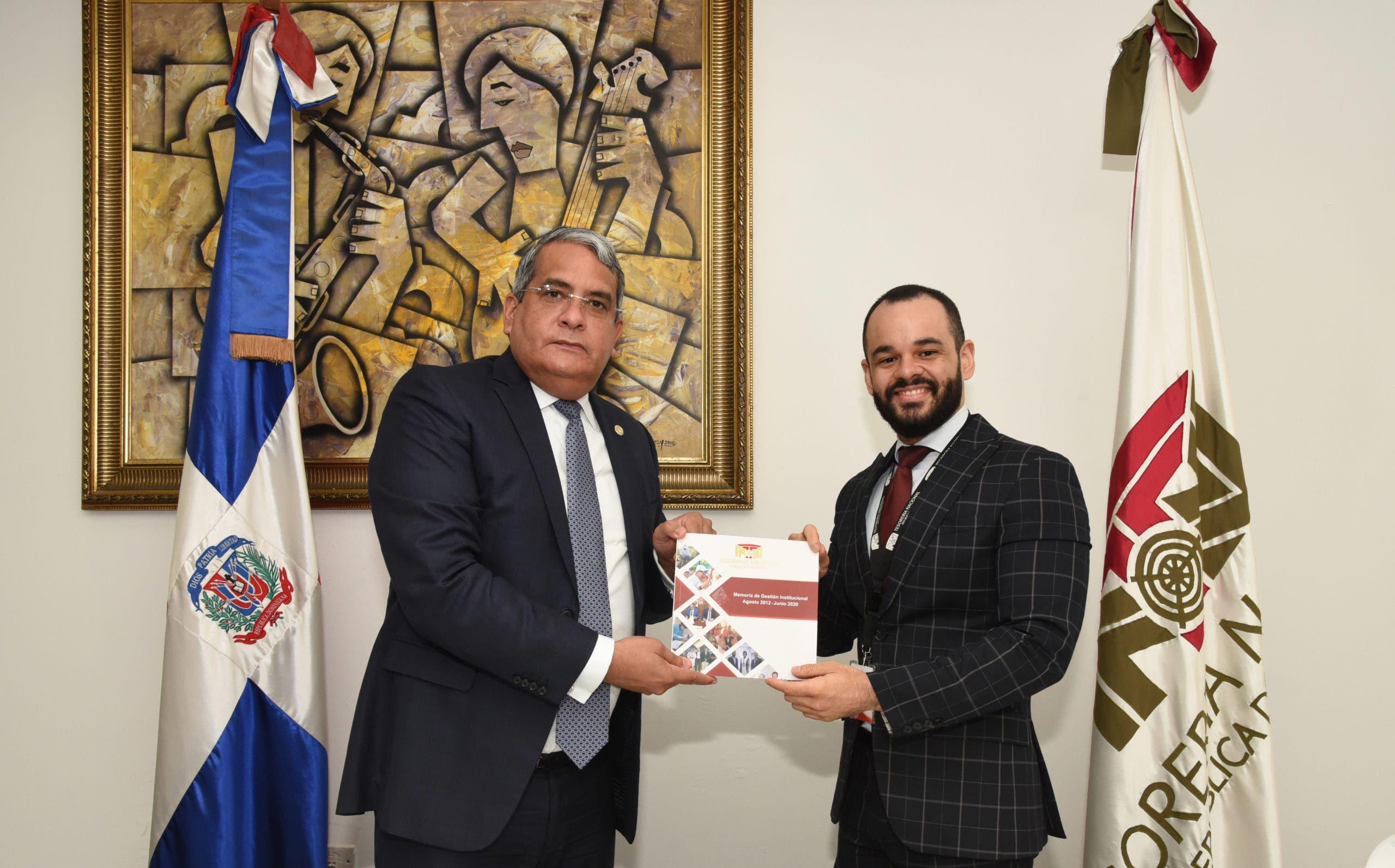 Tesorero Nacional resalta logros institucionales en memoria de gestión 2012-2020