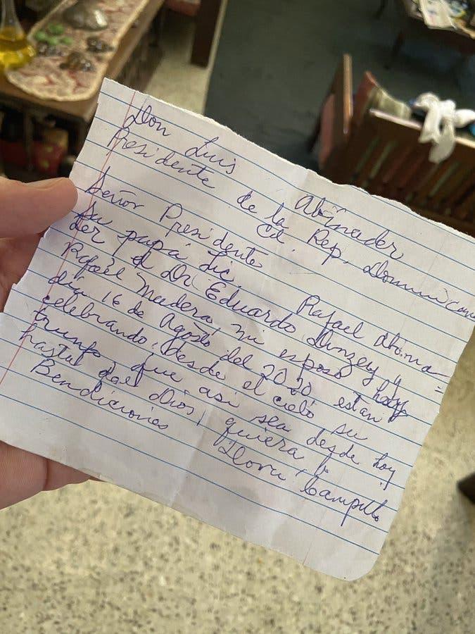 El «telegrama» que una abuela le mandó al presidente electo Luis Abinader y lo que él le respondió