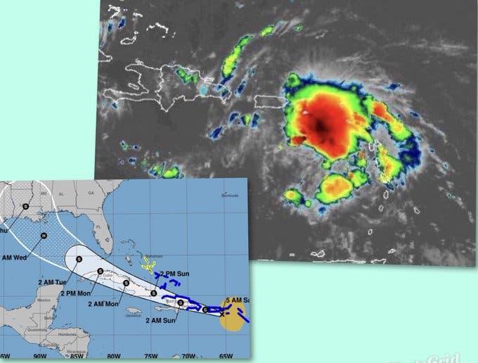 ¡Atentos!: Tormenta tropical Laura podría incidir la noche de hoy sobre RD