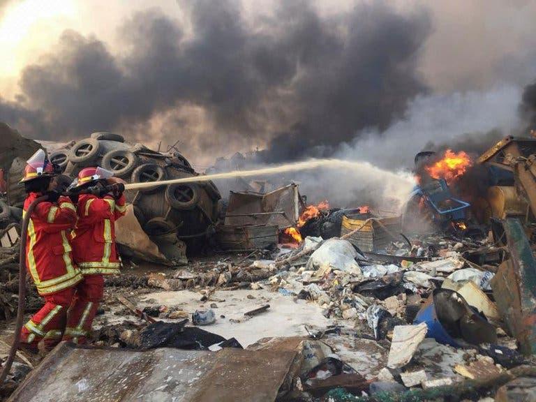 FOTOS Y VIDEOS: Qué fue lo que causó la enorme explosión en el puerto de Beirut