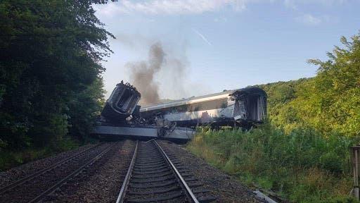 Escocia: Se descarrila un tren de pasajeros