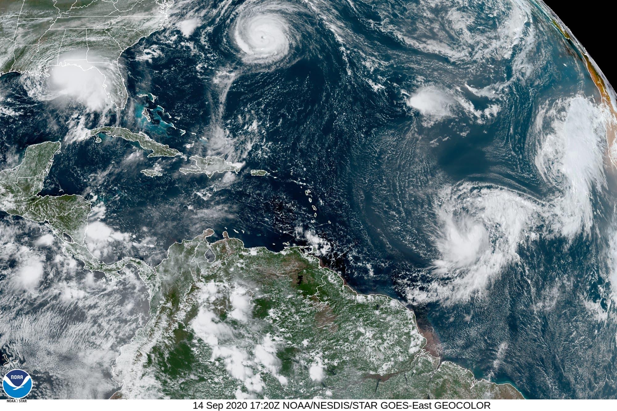 El huracán Sally se acerca a las costas de EEUU en el Golfo