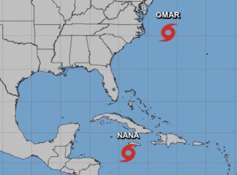 Tormenta tropical Omar se forma en el Atlántico de EEUU y tendrá «corta vida»
