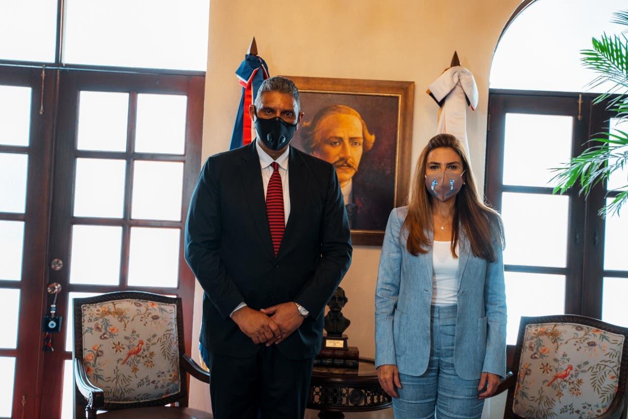 Carolina Mejía y ministro Interior y Policía coordinan acciones para implementar Plan de Seguridad Ciudadana